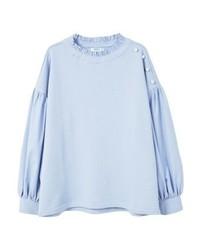hellviolettes Sweatshirt von Mango
