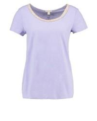 hellviolettes T-Shirt mit einem Rundhalsausschnitt von Esprit
