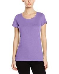 hellviolettes T-Shirt mit einem Rundhalsausschnitt von Stedman Apparel