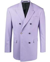 hellviolettes Zweireiher-Sakko von Versace