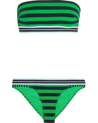horizontal gestreiftes Bikinioberteil