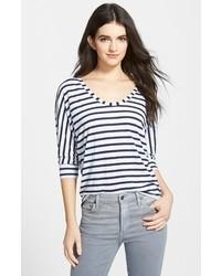 horizontal gestreiftes T-Shirt mit einem Rundhalsausschnitt