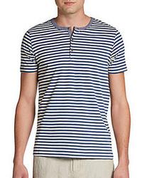 Horizontal gestreiftes t shirt mit knopfleiste original 2604600
