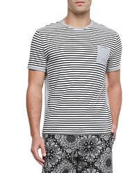 Horizontal gestreiftes t shirt mit rundhalsausschnitt original 390134
