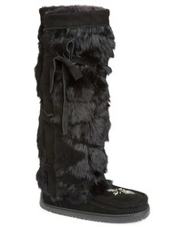 Kniehohe stiefel aus pelz original 10225812