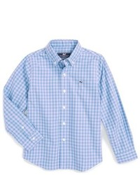 Langarmhemd mit Vichy-Muster