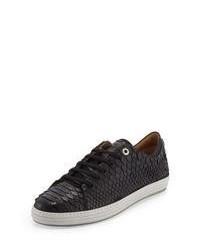 Leder niedrige Sneakers