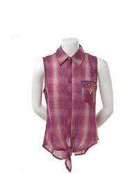 Lila aermelloses hemd original 9061942