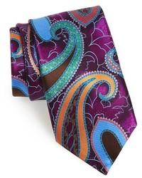 lila bedruckte Krawatte