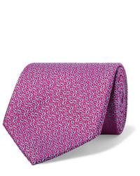 lila bedruckte Krawatte von Charvet