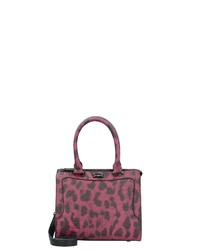 lila bedruckte Shopper Tasche aus Leder von Paul's Boutique