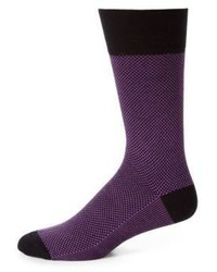 lila bedruckte Socke