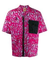 lila bedrucktes Kurzarmhemd von Nike