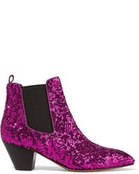 lila Chelsea-Stiefel aus Leder von Marc Jacobs