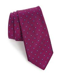 lila gepunktete Krawatte