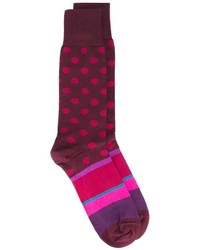 lila gepunktete Socken von Paul Smith