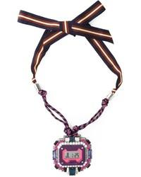 lila Halskette von Lanvin