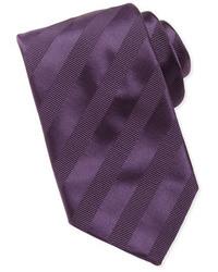 lila horizontal gestreifte Krawatte