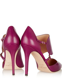 lila Leder Pumps von Jimmy Choo