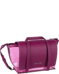 lila Leder Umhängetasche von Calvin Klein