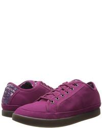 lila niedrige Sneakers
