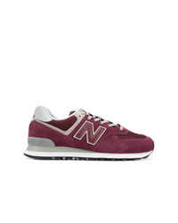 lila niedrige Sneakers von New Balance