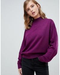 lila Oversize Pullover von ASOS DESIGN