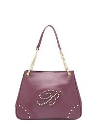 lila Shopper Tasche aus Leder von Blumarine