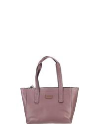 lila Shopper Tasche aus Leder von Comma