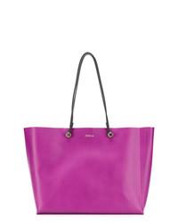 lila Shopper Tasche aus Leder von Furla