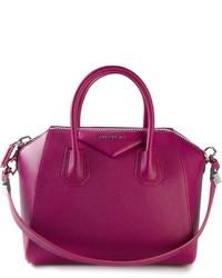 lila Shopper Tasche aus Leder von Givenchy