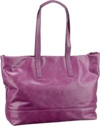 lila Shopper Tasche aus Leder von Jost