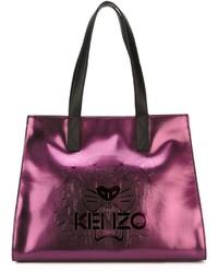 lila Shopper Tasche aus Leder von Kenzo