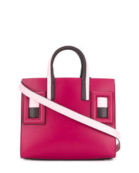 lila Shopper Tasche aus Leder von Marni
