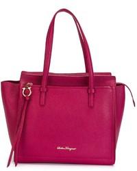 lila Shopper Tasche aus Leder von Salvatore Ferragamo