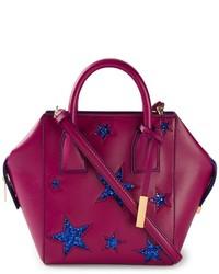 lila Shopper Tasche aus Leder von Stella McCartney