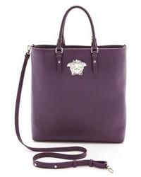 lila Shopper Tasche aus Leder von Versace