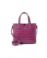 lila Shopper Tasche aus Leder von Vince