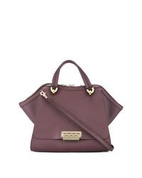 lila Shopper Tasche aus Leder von Zac Zac Posen