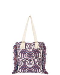 lila Shopper Tasche aus Segeltuch