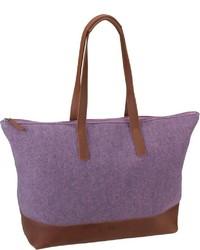 lila Shopper Tasche aus Segeltuch von Jost