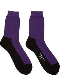 lila Socken von Comme des Garcons