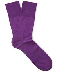 lila Socken von Falke