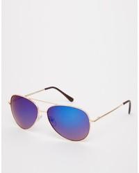 lila Sonnenbrille von Asos