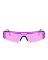 lila Sonnenbrille von Balenciaga
