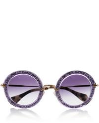 lila Sonnenbrille von Miu Miu