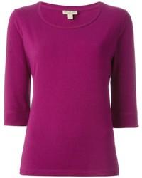 lila T-Shirt mit einem Rundhalsausschnitt von Burberry
