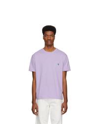 lila T-Shirt mit einem Rundhalsausschnitt von Polo Ralph Lauren