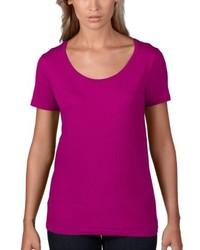 lila T-shirt von Anvil