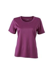 lila T-shirt von James & Nicholson